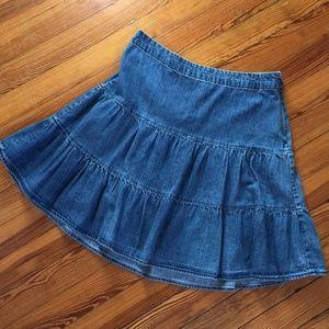Gap Denim Tiered Short Skirt